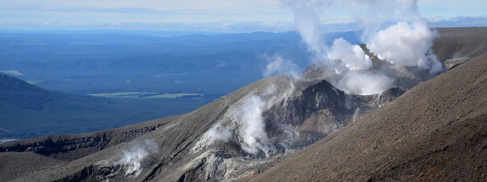 Views of Tongariro Crossing from above